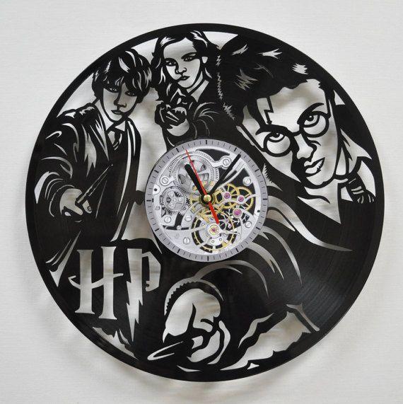 Horloge disque vinyle Harry Potter Harry Potter par Vinyra sur Etsy
