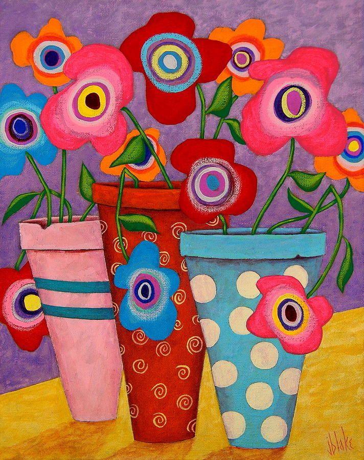 Pintura floral Felicidad