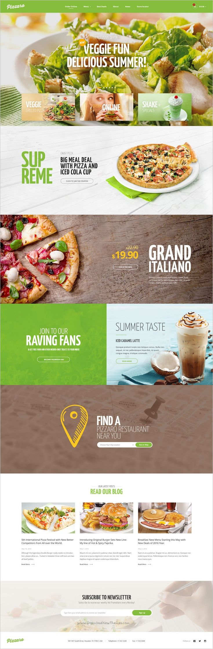 Pizzaro is modern and elegant design responsive 7in1 #WordPress theme for #webdesign fast food and #restaurant websites download now➩ https://themeforest.net/item/pizzaro-food-online-ordering-woocommerce-theme/19209143?ref=Datasata
