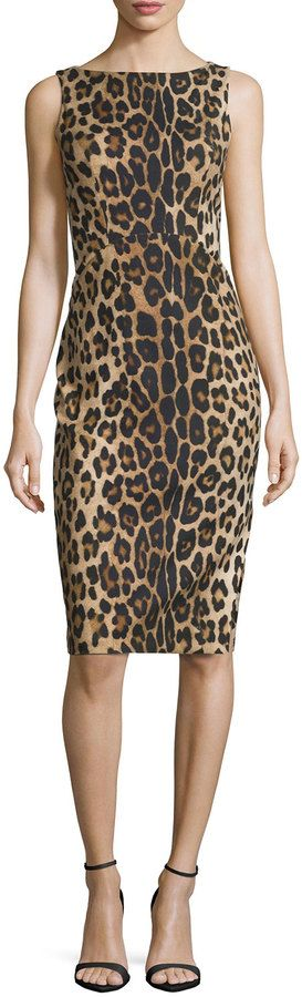"ALTUZARRA SHADOW LEOPARD-PRINT SHEATH DRESS $1,395 by Altuzarra at Neiman Marcus Available Colors: LEOPARD PRINTED Available Sizes: 36 FR (4 US),38 FR (6 US),40 FR (8 US),42 FR (10 US),44 FR (12 US) DETAILS Altuzarra leopard-print dress. Bateau neckline. Sleeveless. Arched seam at waist. Crisscross seams at back. Fitted sheath silhouette. Slit at side of skirt. Hidden back zip. Cotton/spandex. Made in Italy. Model's measurements: Height 5'10""/177cm,"