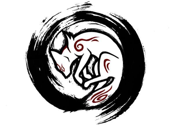 Okami Tattoo Design by nekuroSilver.deviantart.com on @DeviantArt