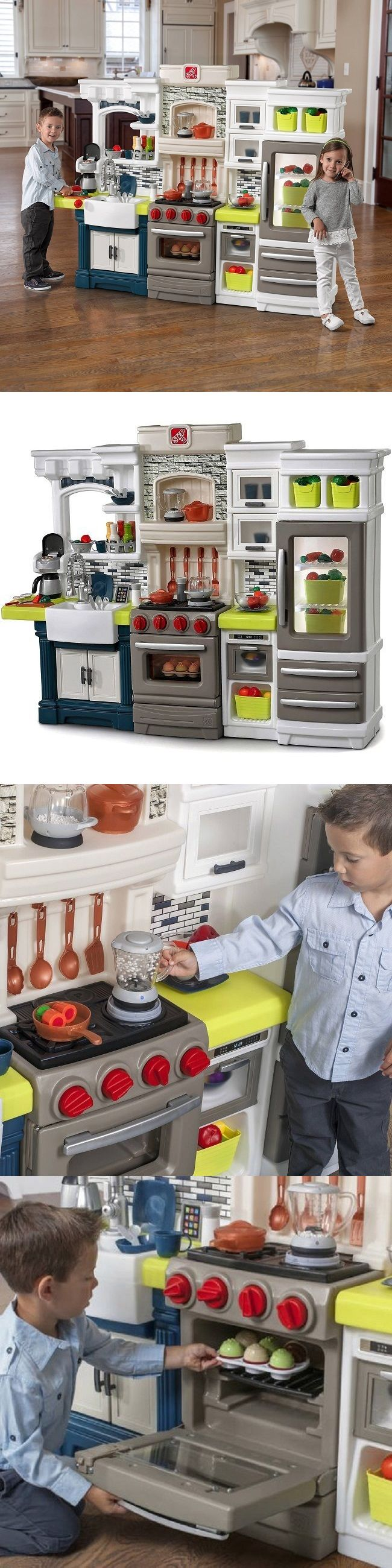 Kitchens 158746: Kitchen Playset W Accessories Step2 Large Tall Kids Toys Plastic Play Set Lights -> BUY IT NOW ONLY: $302.99 on eBay!