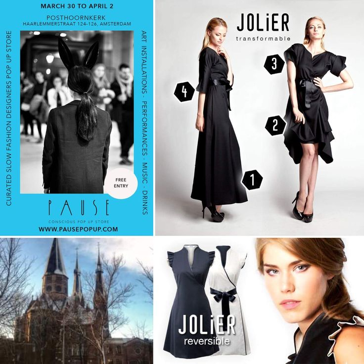JOLIER joins PAUSE pop up - March 30- April 2 Amsterdam, Netherlands! We are happy to announce that the JOLIER will take part to the 3rd edition of the CONSCIOUS fashion PAUSE pop-up store in The Posthoornkerk, one of the most remarkable remaining 19th-century churches of Amsterdam at Haarlemmerstraat in the city's heart! Welcome! Read more: www.pausepopup.com Visit us: www.jolier.com