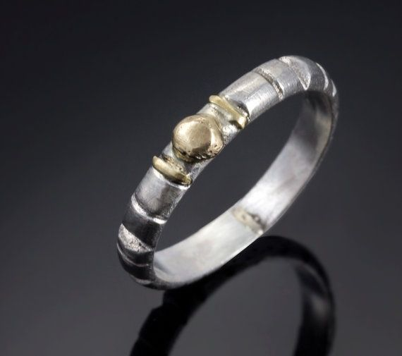 Hey, I found this really awesome Etsy listing at https://www.etsy.com/il-en/listing/167972325/silver-and-18k-gold-ring