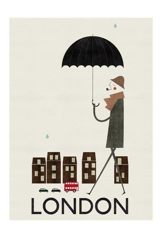 London big print by blancucha on Etsy