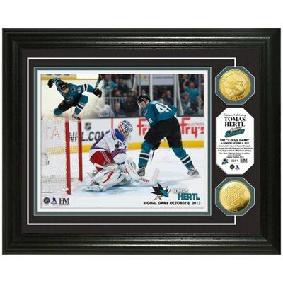 Tomas Hertl San Jose Sharks ''4 Goals'' Gold Coin Photomint