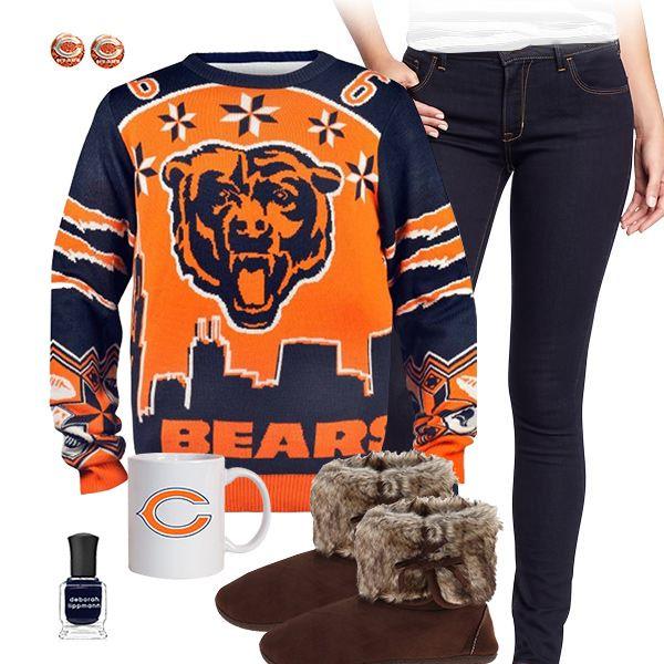 56 best Chicago Bears Fashion, Style, Fan Gear images on Pinterest ...