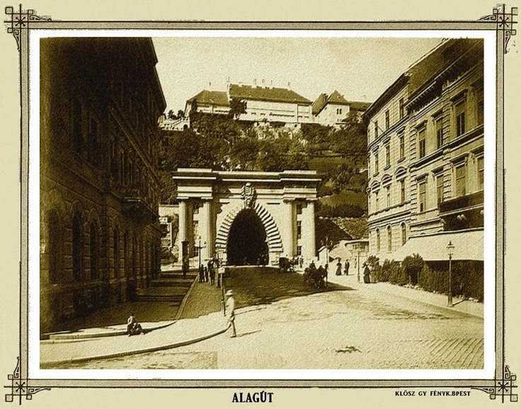 Western entrance of the Tunnel of Budapest, 1894. (Photo by György Klösz)