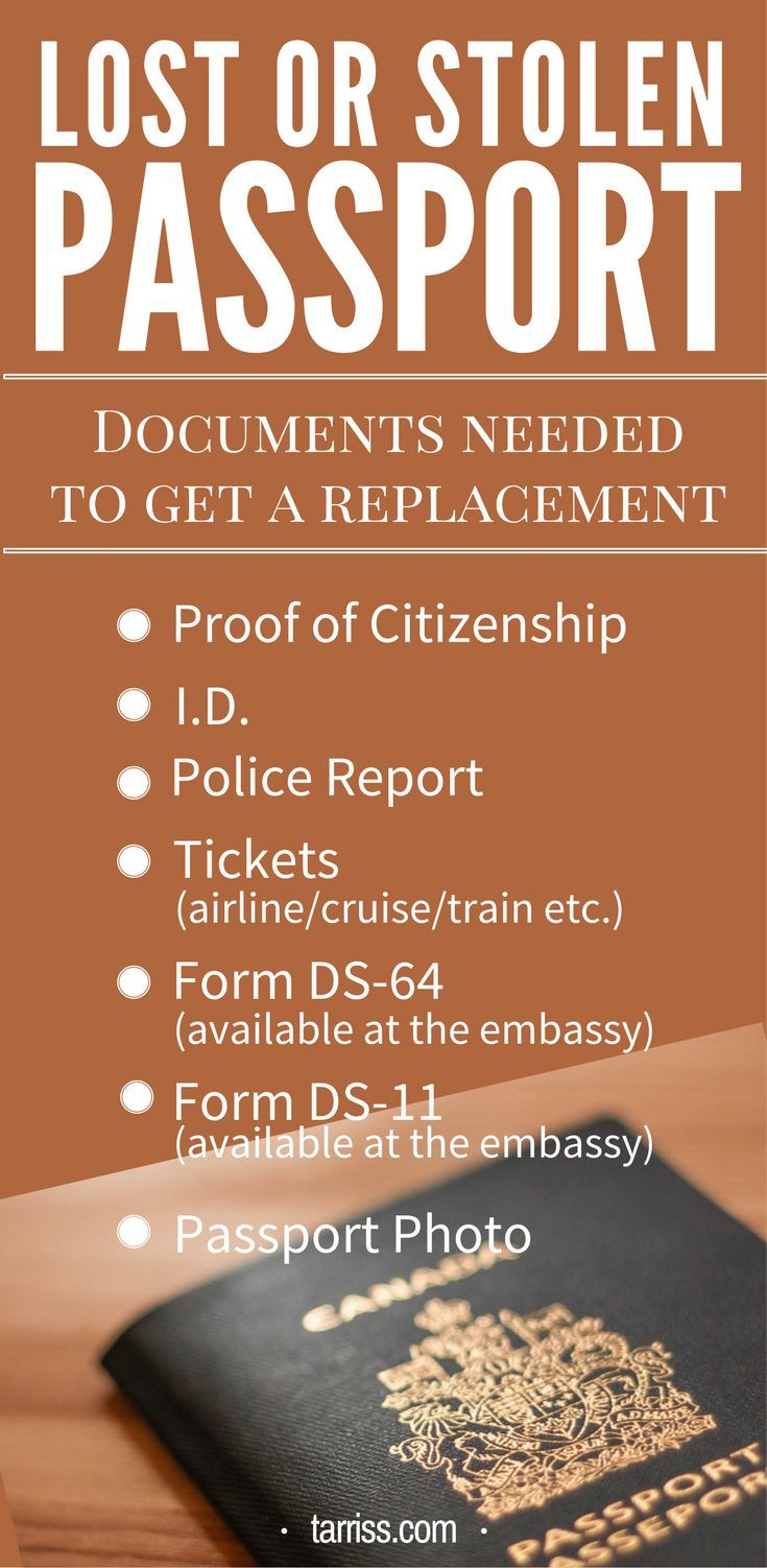 Traveling abroad? Here are the documents that the U.S. embassy will ask from you should you request for a passport replacement. Valuable information for you! Head over to the blog for the full list of things you need to do just in case your passport went lost or stolen overseas.