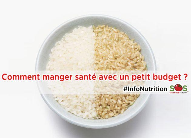 Manger santé avec un petit budget? Faites cuire de grandes quantités d'aliments de base, comme du couscous de blé entier, du riz brun ou des légumes grillés. Ils peuvent être congelés et décongelés rapidement et vous n'aurez qu'à varier les repas en modifiant les ingrédients que vous y ajoutez. Pour plus de conseils, par ici: www.soscuisine.com/nutrition2014