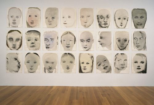 "Chlorosis (Love sick) Marlene Dumas (South African, born 1953) 1994. Ink, gouache, and synthetic polymer paint on paper, each sheet 26 x 19 1/2"" (66.2 x 49.5 cm)"