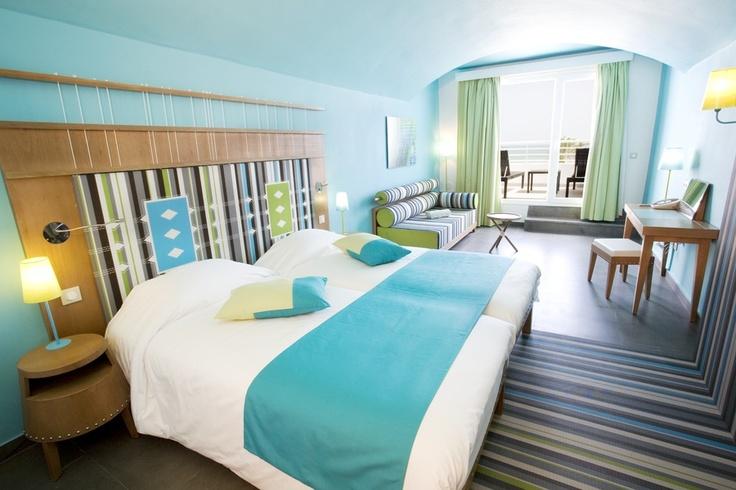 All inclusive vakantie in Djerba Tunesië, in een kamer in het fraaiste gedeelte van Clubdorp Djerba la Douce, dat in de omringende vegetatie opgaat.