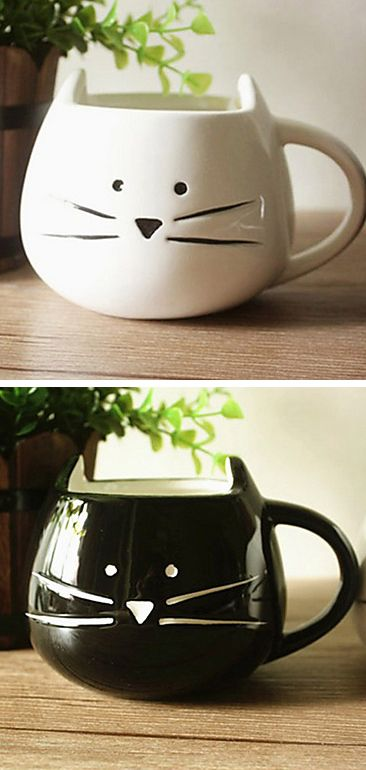 Cat mugs - These are definitely something Mom should have at her place.