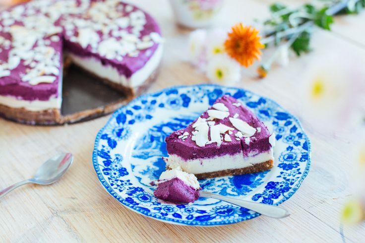 Raw vegan blueberry cheesecake | Vegoteket