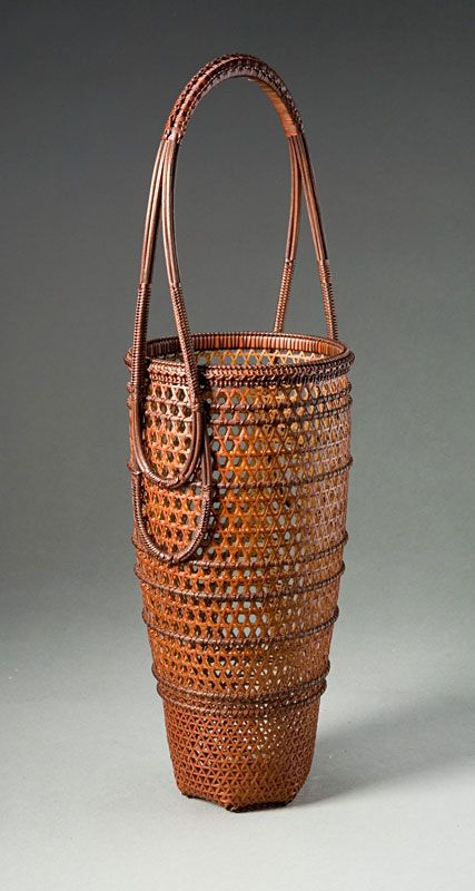 Iizuka Shokansai, plaited flower basket, ca. 1998