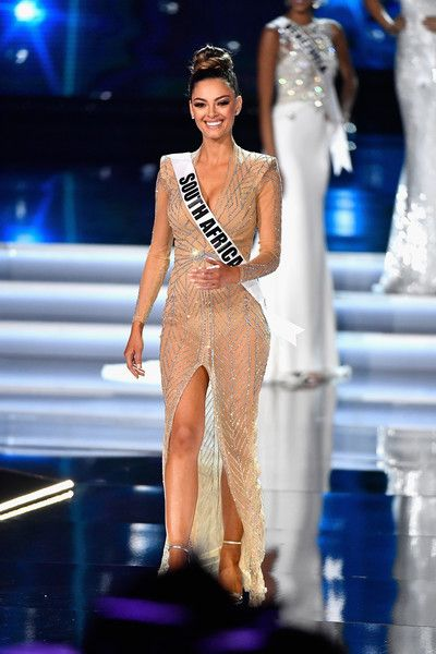 Miss South Africa 2017, Demi-Leigh Nel-Peters is named a top 3 finalist during the 2017 Miss Universe Pageant at The Axis at Planet Hollywood Resort & Casino on November 26, 2017 in Las Vegas, Nevada.