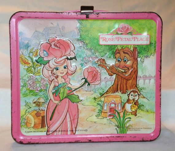 Vintage Metal Lunchbox with Thermos, Rose Petal Place, Aladdin Industries, 1983 #vintage #lunchbox