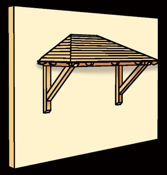 Holz-Vordach SKANHOLZ Wismar für Doppeltüren Haustür-Walmdach - Trockenen Fußes vor der Haustür nach dem Schlüssel suchen