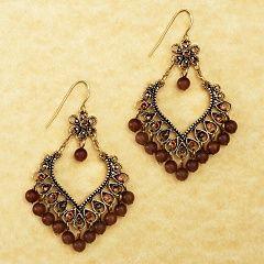 Avenue Amber Floral Chandelier Earrings(Nickel Free) Womens Plus Size