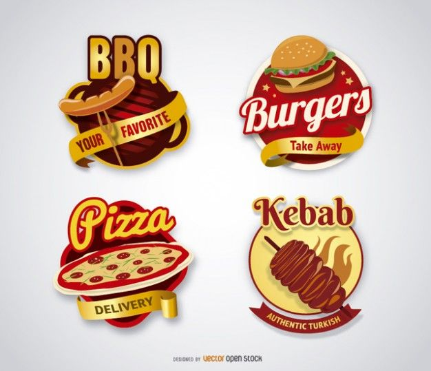 Logo Collection Fast food Vetor grátis