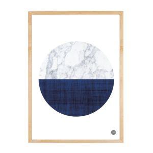 #freewallprints #downloadfreeprint Marble - Navy Semi Circle_House Amour