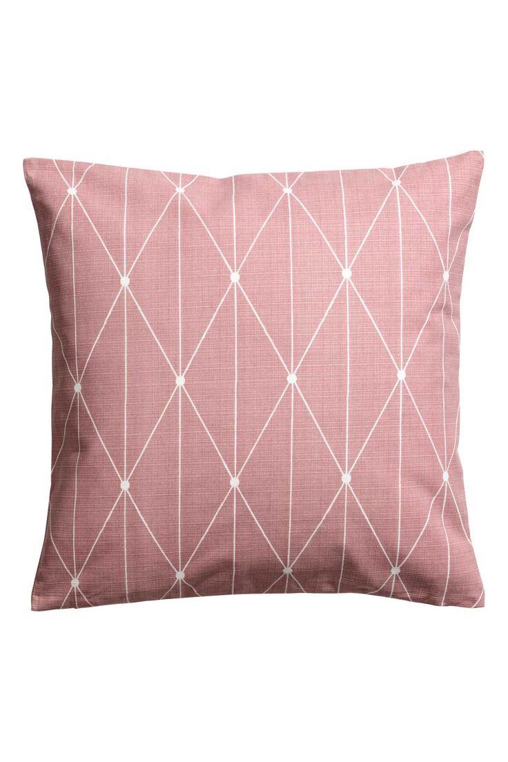Slub Weave Cushion Cover | Dusky pink | H&M HOME | H&M US