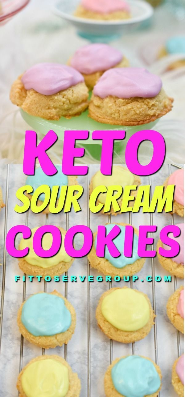 Keto Sour Cream Cookies In 2020 Sour Cream Cookies Cookies And Cream Low Carb Recipes Dessert