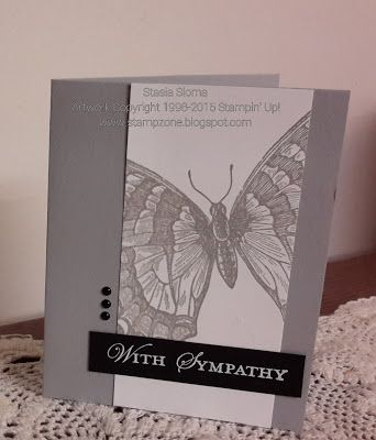 Stampin' & Scrappin' with Stasia: Sympathy Butterfly - SU - Loving Thoughts, Swallowtail