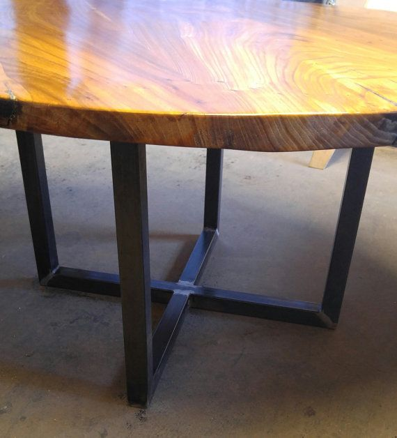 Metal Cross Pedestal Base Great For Round Table By WickedGrain