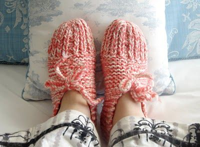 Knit slippers pattern