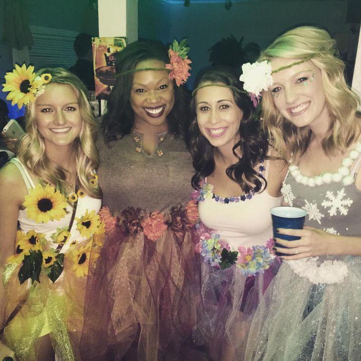 The four seasons DIY costume for Halloween! ☀️❄️ #halloween #costume #groupcostume #fourseasons
