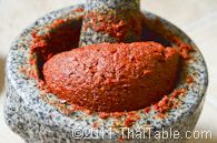 red curry paste (not to be confused with basic red curry paste, which apparently is different)