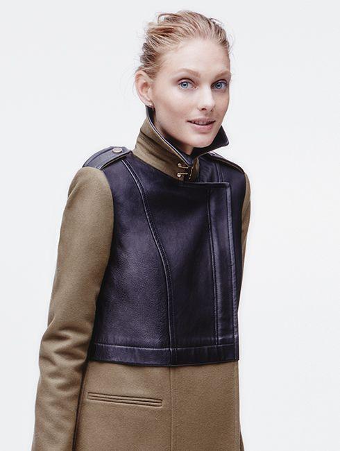 Amazing wool/leather coat from Club Monaco, $595