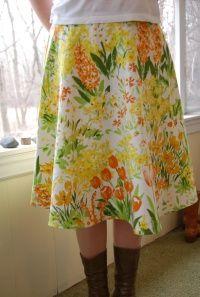 more vintage fabric homemade skirt inspiration