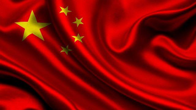 China Flag Abstract Wallpaper Image