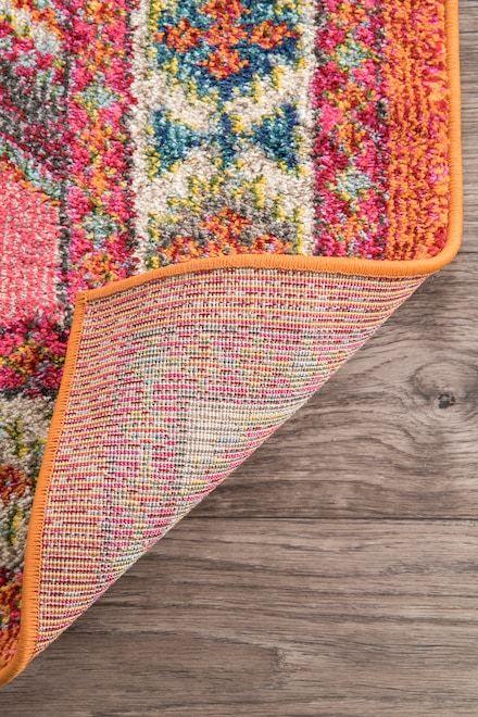 Rugs Usa Multi Chroma Tribal Hex Tiles Rug Living Room
