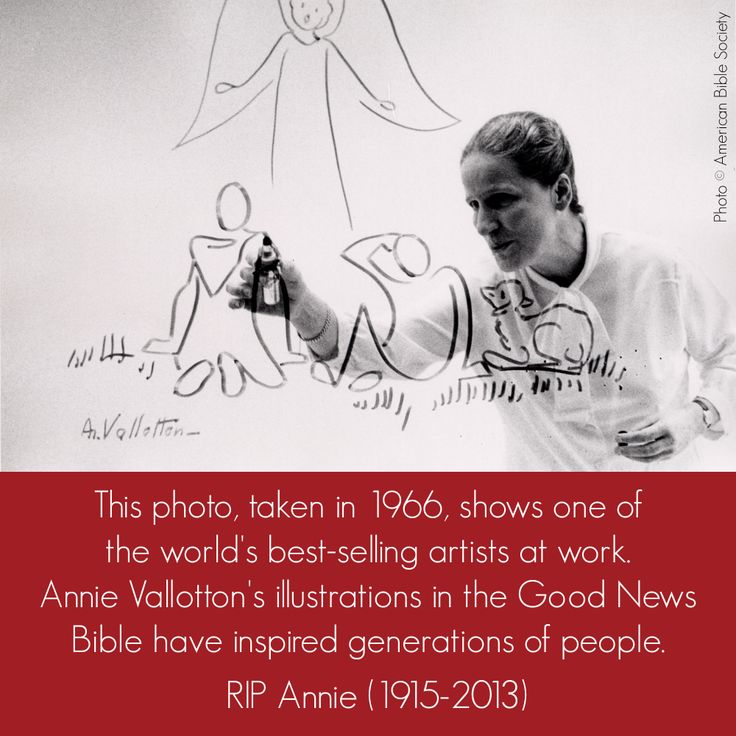 Annie Vallotton, illustrator of the Good News Bible (photo by American Bible Society)