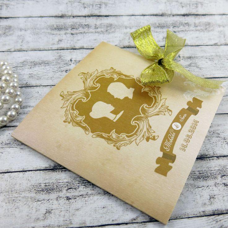 Invitaţie de nuntă Glam http://designbyclarice.ro/