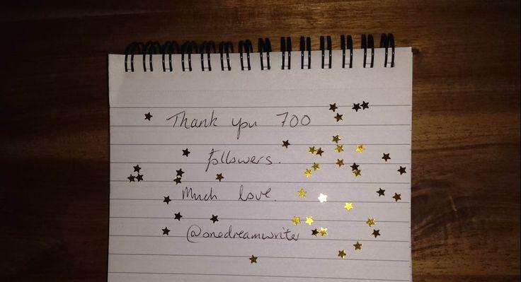 Followed by 700 - One Dream Writer