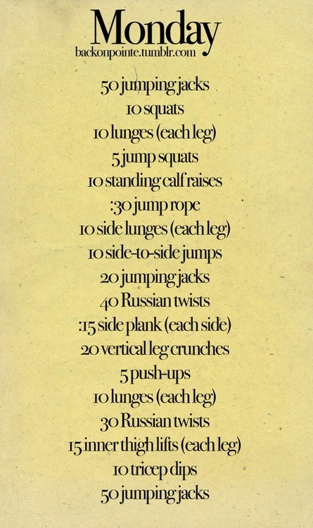 Awesome at home circuit workout!! Do it 3 times without rest and you will get a high intensity, 30 minute workout without even leaving your house!