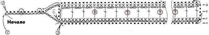 Вязаный браслет схема