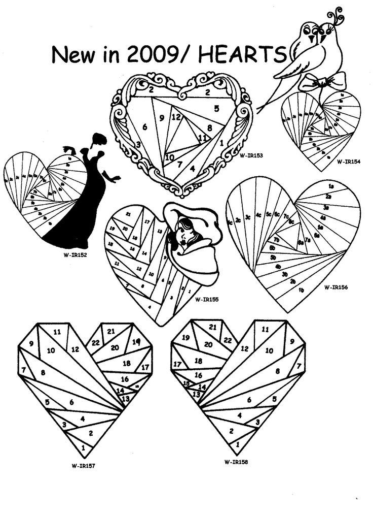 NEW Hearts Iris Folding Rubber Stamps Pg 21 Discount
