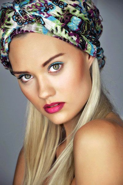 Laura James' Scarf-Tied Long Hairstyle | Beach, Casual, Everyday, Spring, Summer |Careforhair.co.uk