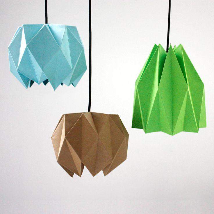 DIY Origami : DIY Origami Lampshade ****** * * **