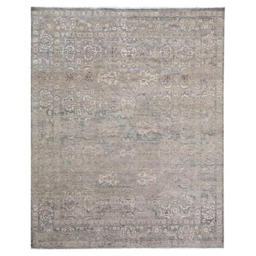 Gisella Global Bazaar Moroccan Pattern Distressed Grey Taupe Rug - 8' x 10'