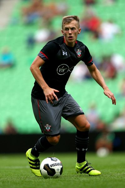 James Ward-Prowse of Southampton runs with the ball during the friendly match between FC Groningen an FC Southampton at Euroborg Stadium on July 30, 2016 in Groningen, Netherlands.
