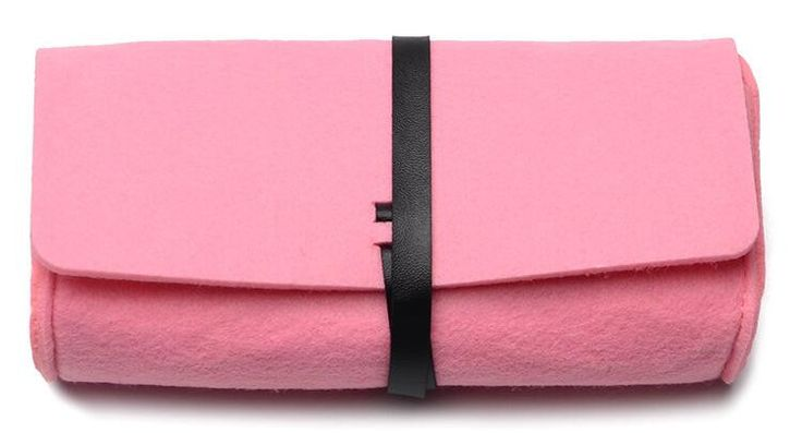 New Fashion Felt Glasses Case For Eyeglasses High Quality Women Sunglasses Bags Gray/Rose/Orange/Pink/Green 5 Colors In Stock
