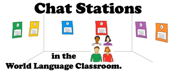 Chat Stations in the World Language Classroom. Thank you to Cult of Pedagogy for this excellent idea.