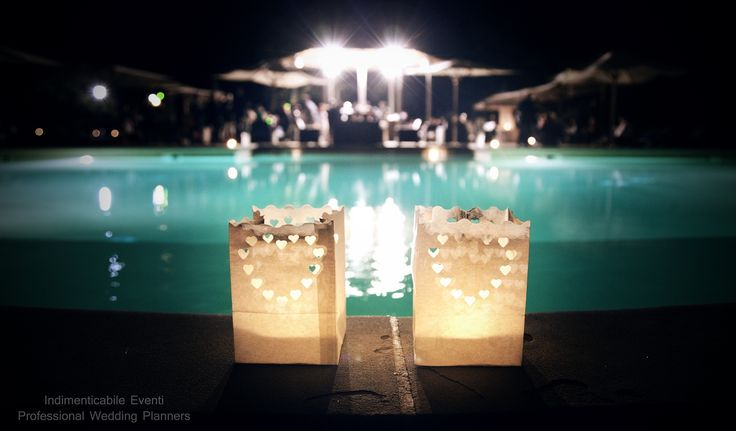 Pool Wedding Party by www.italian-weddingplanners.com