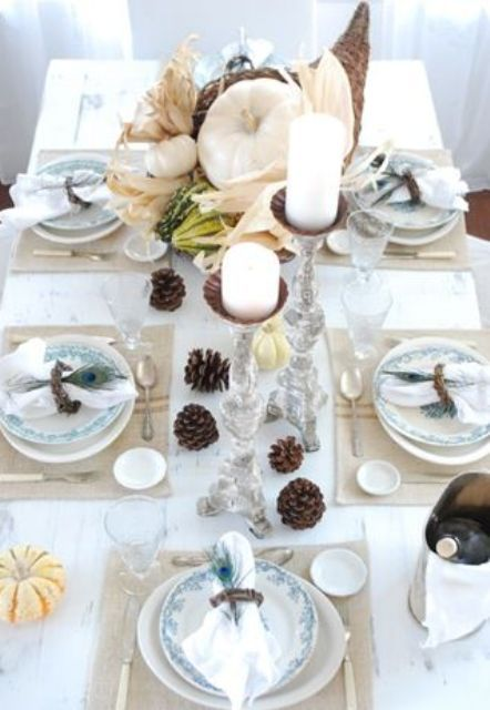 Best Thanksgiving Decoration By Using White Thanksgiving: Fabulous  Traditional Tender White Thanksgiving Decor Ideas Use